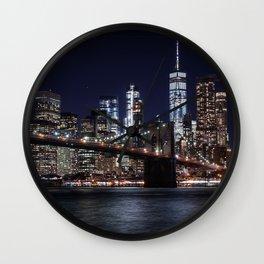 The Lights of New York City Wall Clock