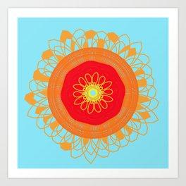 Asymmetrical Sunset Art Print
