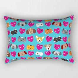 Cat Loves Dog Loves Cat Rectangular Pillow
