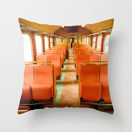 Vintage Train Throw Pillow