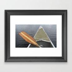 USA - MINNESOTA - Canoe ride Framed Art Print