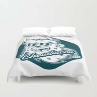 chewbacca Duvet Covers featuring Hipster Chewbacca by Redwane