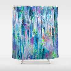 Silver Rain Shower Curtain