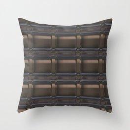 Brown tiles Throw Pillow