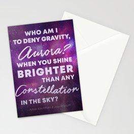 Who Am I To Deny Gravity, Aurora Stationery Cards