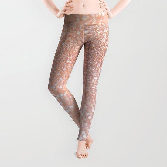 Diamonds are girls best friends II - Pink glitter texure Leggings