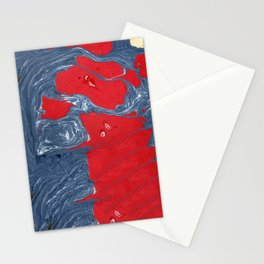 Denim Marble Painting Stationery Cards