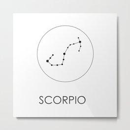 Scorpio Stars Metal Print