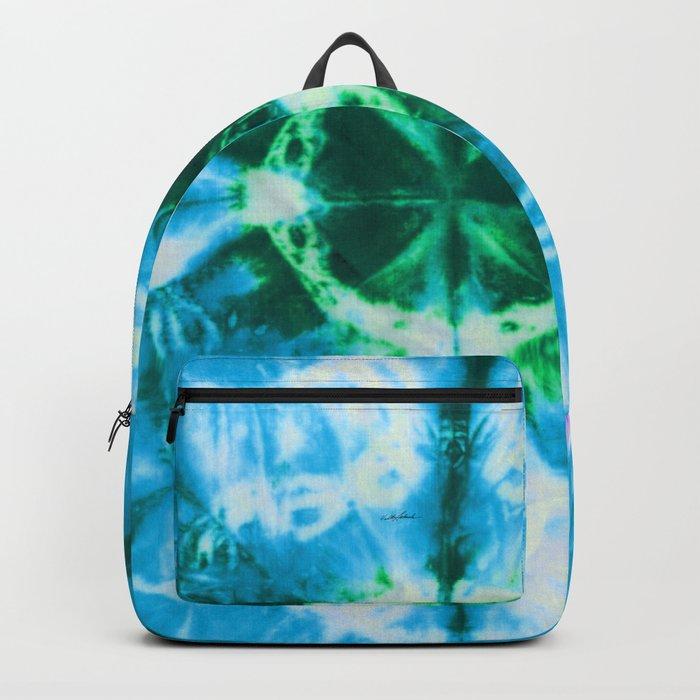 Boho Blue Bloom Backpack