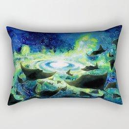 Space Rays Rectangular Pillow