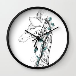 Poetic Giraffe Wall Clock