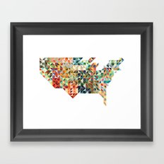 Geometric United States Framed Art Print