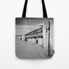 Groynes B and W Tote Bag