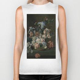 Cornelia Van Der Mijn - Still Life With Flowers Biker Tank