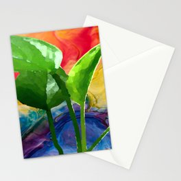 Abstract Pothos Stationery Cards