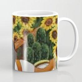 Classical Masterpiece Sunflowers 'Chismosas' by Diego Rivera Coffee Mug