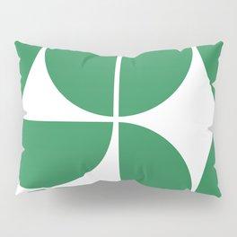 Mid Century Modern Green Square Pillow Sham