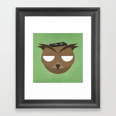 Remote Owl Framed Art Print