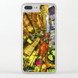 London Graffiti Van Gogh Clear iPhone Case