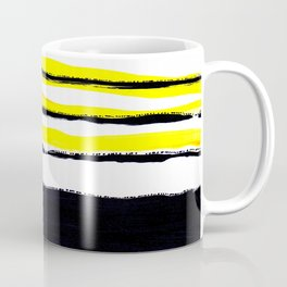 Striped black yellow Coffee Mug
