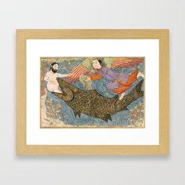 Jonah and the Whale Persian Art Framed Art Print