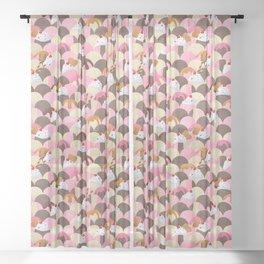 Ice Cream Sundaes - Neapolitan Pattern Sheer Curtain