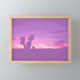 Lavender Joshua Sunset - Pop_Art Framed Mini Art Print
