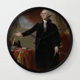 George Washington (Lansdowne Portrait), first America president. Wall Clock