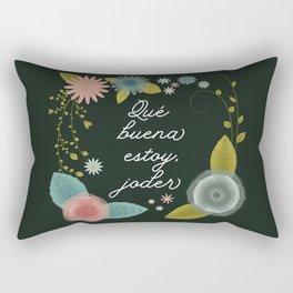 Qué buena estoy - Dark Rectangular Pillow