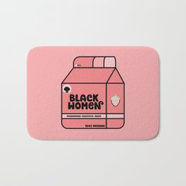 Black Women - Strawberry Bath Mat