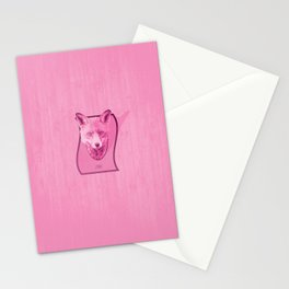 Hunting Series: The Pink Fox Head Stationery Cards