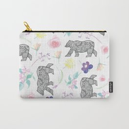 Flower Bear Carry-All Pouch