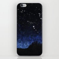 night sky iPhone & iPod Skins featuring Night sky by AhaC