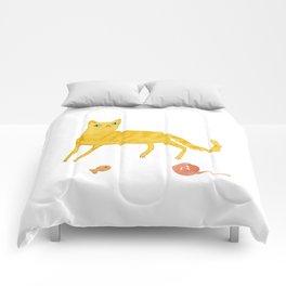 Nice Ginger Cat Comforters