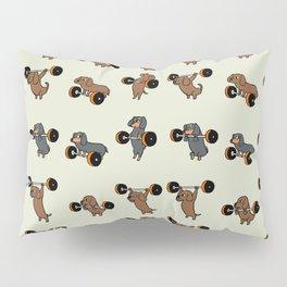 Olympic Lifting Dachshund Pillow Sham