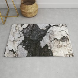 bark abstact no1 Rug