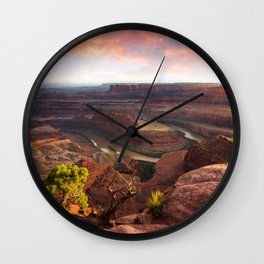 Dead Horse Point Sunset, Utah Wall Clock