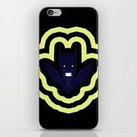 bat man iPhone & iPod Skins featuring bat by Nir P