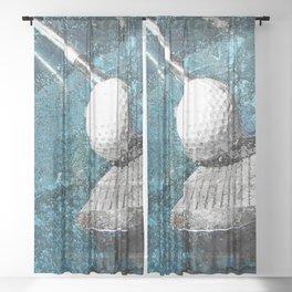 Golf art print work vs 2 Sheer Curtain