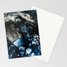 Blue mountain moonlight Stationery Cards