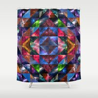 quilt Shower Curtains featuring Space Quilt by deff