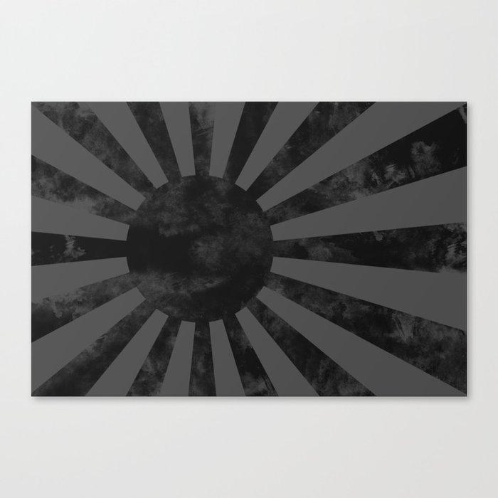 Black Japan Empire Flag Canvas Print