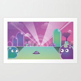 Land of the Blob Art Print