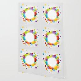 Colorful bright circle confetti Wallpaper