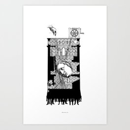 A moral tale about Motherhood. Art Print