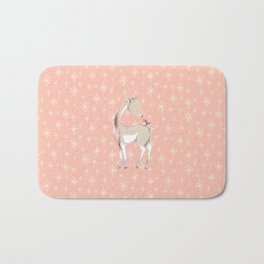 Sweet deer with robin Bath Mat