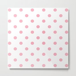 Polka Dots in Pink Metal Print