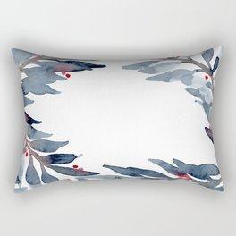 Watercolor Garlands Rectangular Pillow