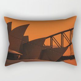 Sydney Opera House at Sunset Rectangular Pillow