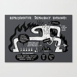 Representative Democracy Explained Canvas Print